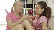 TeenMegaWolrd.net - Angel & Caroline - Pigtailed Lesbians preview image