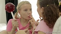 TeenMegaWolrd.net - Angel & Caroline - Pigtailed Lesbians Vorschaubild