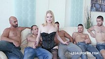 PAWG 5on1 Adry Berty welcome to PORN with DP /DAP /TP and 5 swallows