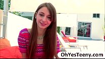 Fresh teen hottie Willow Hayes first time encouter a big cock