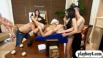 Singles fucking inside Foursome mansion