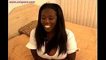 Hot black Diva with big tits blowjob