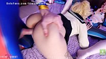 Cum for Himiko and Uraraka  anal sex lesbian  cosplay AliceBong Purple Bitch Image
