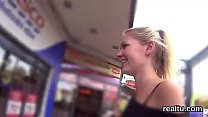 Stunning czech teenie was teased in the shopping centre and shagged in pov thumbnail