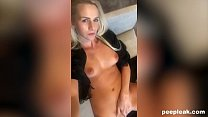 Hot Blonde Takes a Long Masturbation Selfie