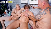 AMATEUR EURO - Amateur German Wife Take Turns With Husband And Their Neighbor