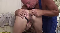 rough deepthroat with 79 years old mom