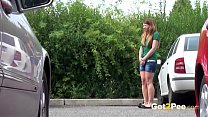 tokyotopless: Pissing Next To A Car thumbnail