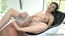 Fresh pussy filled with Grandpa dick Preview