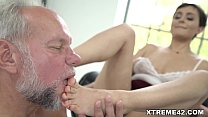 Fresh pussy filled with Grandpa dick Image