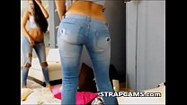 Beautiful Teen in jeans Strip Tease On Webcam