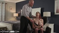 Big Tit Redhead Wife Lilian Deepthroat Cum On Tits thumbnail