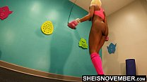4K Msnovember Horny Old Coach Made Cute Little Ebony Spinner Jump Rope Naked In His Gym , Large Natural Saggy Busty Breasts , Dark Puffy Nipples , And Big Areolas Bouncing While Working Out Her Slim Ass And Petite Thighs HD Sheisnovember صورة