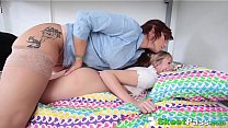 Cute Teen Seduced By Mature Lesbian Headmistress