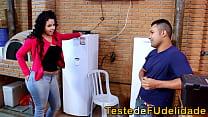 Morena mackerel seducing married tv technician