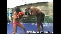 Fierce Latina Beats Down Black Guy's Thumb