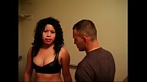 Big butt latin chick gets her pussy licked and fucked in the bathroom