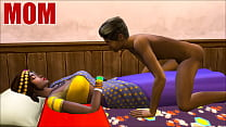 Indian Mom And Son - Visits Mother In Her Room Ans Sharing The Same Bed