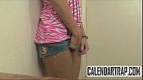 Skinny blonde teen in amateur foreplay