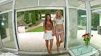 Spermswap Slender babes Bree Haze and Athina recieve an anal drilling