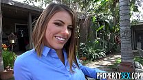 PropertySex - Student fucks h. teacher outdoors