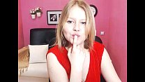 cute blonde teen naked and masturbating on cam