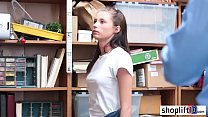 Petite brunette teen banged by a corrupt policeman