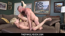 Blonde Twink Boy Stepson Taylor Reign Sex With Stepdad Donnie Argento In Family Room