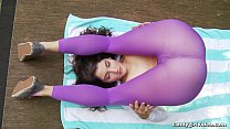 Anabelle Pync and Arielle Lane model tight yoga...