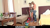 Older cleaning woman fuck