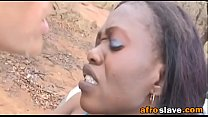 African slave to ride white dick outdoorsfick-v...