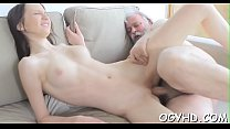 Horny young babe screwed by old lad - download porn videos