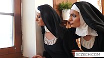 Beautiful nuns enjoying sex