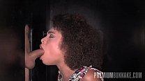 Premium Bukkake - Luna Corazon Swallows 12 Cum Loads In A Gloryhole Box