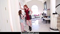 ExxxtraSmall - Teeny Teen Fucked With Strap-On By Tall Busty Lauren Phillips thumbnail