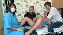 Fella assists with hymen check-up and poking of virgin cutie