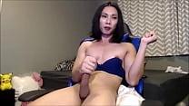 Horny asian TS self cumshot - TScamdolls.com