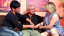 German Mature Wife talk Ugly Maid to FFM 3Some with Husband