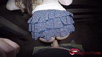 Horny big tits fucking in public on the bridge with hot creampie / Miriam Prado