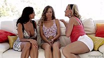 Kendall, Ava Addams and Simone Sonay at Mommy's Girl