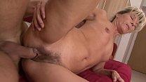 Slutty blonde MILF Nela lays back to get her mu...