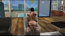 TheSims4 SexMod - Big Booty Riding A Black Dick