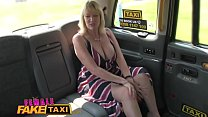 Female Fake Taxi Blonde milf cums on sexy redhe...