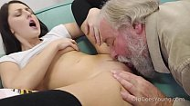 Old Goes Young - Talented cutie rides old dick in cowgirl style
