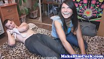 19199 Alluring beauty cuckolds her restrained bf preview