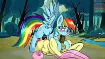 MLP - Clop - Futa Rainbow x Futa Fluttershy by HtPot (Sound Added, HD)