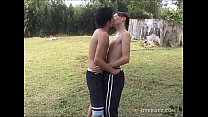 Young Latinos Mario and Leonardo Fuck Outdoors