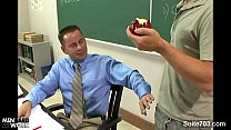 Sinful gay teacher gets nailed by gay student in classroom