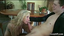 German MILF Seduce 18yr old Son from neighbor t...