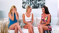 Lesbian threesome with Emma Hix, Silvia Saige & Aaliyah Love